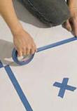 expert painting a floor